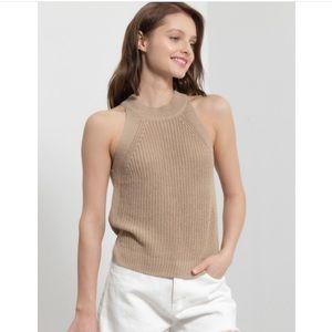CASEY-Knit Halter Sweater